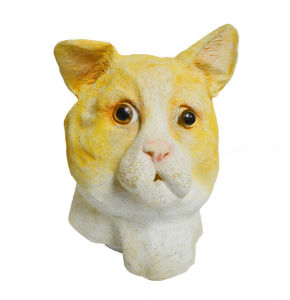 Creepy Yellow Cat Full Head Face Latex Scary Mask Halloween Costume Adult Cosplay pictures & photos