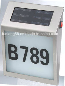 Fq-133 Useful and Environmental LED Solar Power of House Numbers LED Solar Power Address Numbers Light pictures & photos