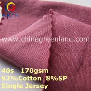 Cotton Knitted Single Jersey Fabric for T-Shirt Clothes (GLLML410) pictures & photos
