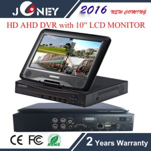 H. 264 4 Channel HD Ahd DVR with 10 Inch LCD Monitor pictures & photos