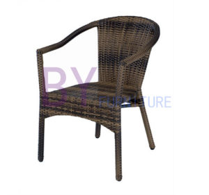 Aluminium Stacking Leisure Coffee Bar PE Rattan Chair Outdoor Wicker Furniture pictures & photos