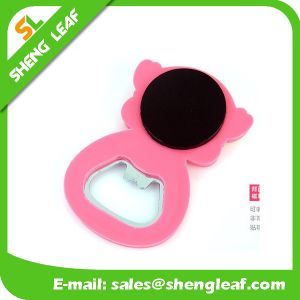 Promotional 3D Rubber PVC Beer Bottle Opener (SLF-BO004) pictures & photos