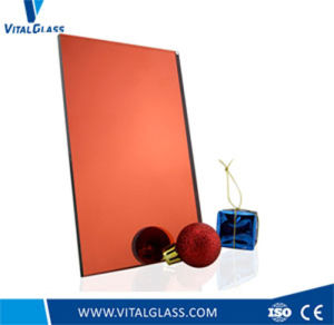 Golden/Orange Mirror/Pink Float Engraved Glass/Colored Rolled Mirror pictures & photos