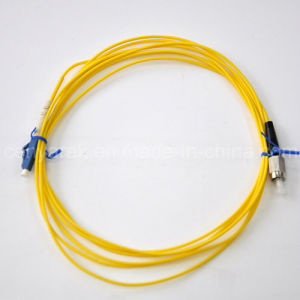 Optical Fiber Patch Cord PC 3m 3.0/2.0mm 9/125 LC-FC pictures & photos