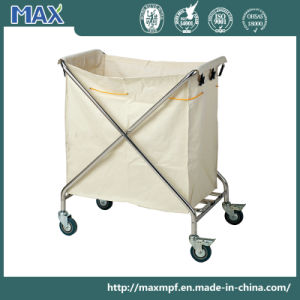 Hospital Medical Laundry Trolley Luggage Clean Linen Service Maid Carts pictures & photos