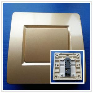 1-Gang, 1-Way Rocker Switch, Wall Switch with Champagne Color