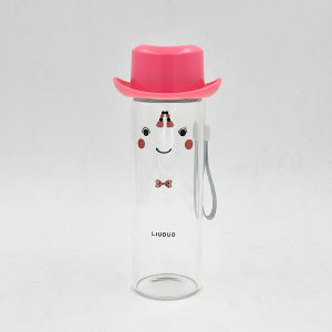 360ml Lovely High Borosilicate Glass Water Cup, Glass Water Bottle pictures & photos