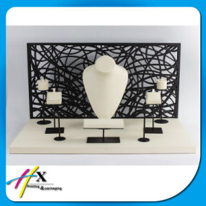 Custom Jewellery Tree Stand Wooden Leather Jewelry Display pictures & photos