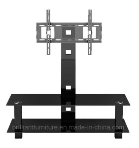 Tempered Glass TV Stand with Bracket (BR-TV015)