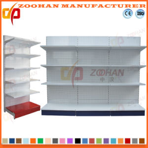 Factory Customized Single Sided Metal Supermarket Display Shelving (Zhs552) pictures & photos