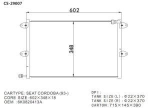 Competitive Rates Aluminum Condenser for Seat Cordoba (93-) pictures & photos