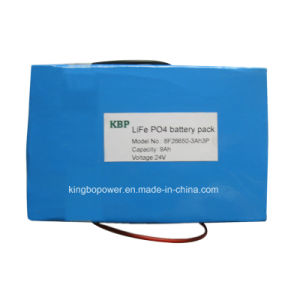 24V Life Po4 Rechargeable Battery Pack for Electric Bike (9Ah)