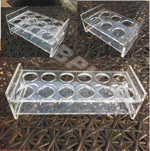 Acrylic Wine Display Stand Holder, Clear, 3 Tier, for 9 Bottles, Acrylic Wine Display, Acrylic Wine Display Box pictures & photos
