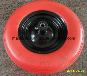 Flat Free PU Foam Wheel Barrow Wheel pictures & photos
