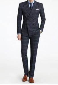 Latest 100% Woolen Suit Men Double-Breasted Cultivate One′s Morality pictures & photos