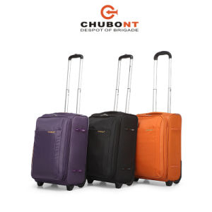Chubont High Quality Waterproof Nylon 2 Wheels Buit-in Caster Suitcase pictures & photos