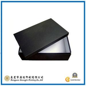 Black Color Shoe Paper Packaging Box (GJ-Box492) pictures & photos