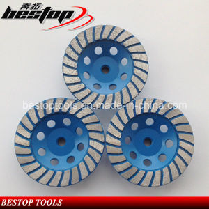 5 Inch Diamond Segmented Turbo Cup Grinding Wheels M14 Threaded pictures & photos