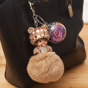 Ivenran Fresh Flower Monchhichi Key Chain for Gift and Decoration pictures & photos
