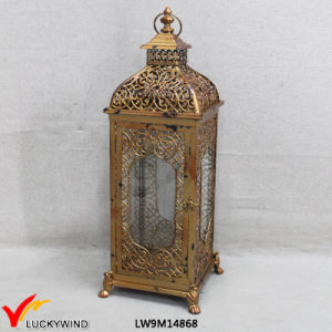 Vintage Golden Metal Glass Wholesale Moroccan Lantern pictures & photos