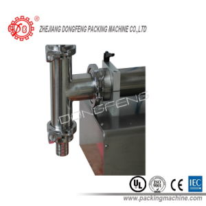 Stainless Steel Pneumatic Semi Automatic Liquid Bottle Filling Machine (DLF) pictures & photos
