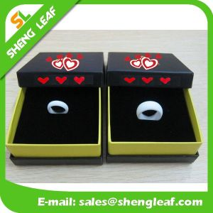 Personalized Fashion Advertising Colorful Silicone Finger Rings (SLF-SR011) pictures & photos
