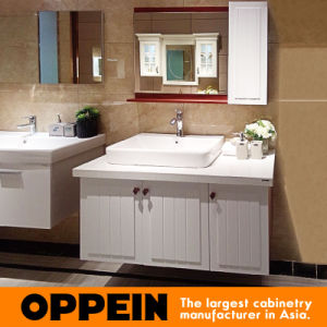 Oppein Modern PVC Wall Mounted Bathroom Vanity (OP15-057B) pictures & photos