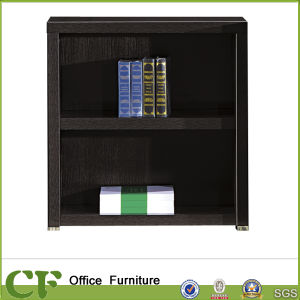 Luxury Design Cheap Short Black Wooden Bookcase pictures & photos