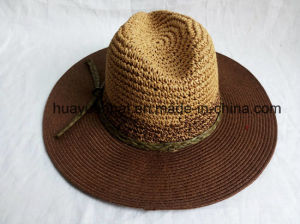 85% Paper 10%Polyester 5%Raffia Straw Leisure Style Safari Hats pictures & photos
