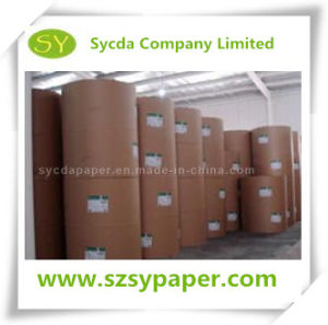 Wood Pulp Jumbo Thermal Paper Roll Customized Size 48/55GSM pictures & photos