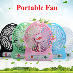Portable Rechargeable Mini Fan with LED Light Battery pictures & photos