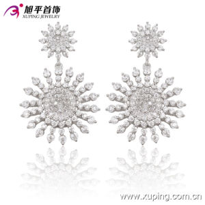 Luxury CZ Crystal Snow Flower Silver Jewelry Eardrops for Wedding or Party - 91397 pictures & photos