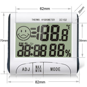 Digital Room Thermometer with Everyday Alarm Function