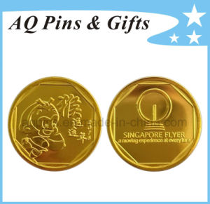 2016 Lucky Monkey Plastic Coin with Gold Plating & Capsule pictures & photos