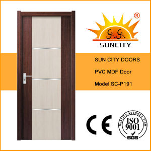 Modern Designs Interior PVC Toilet Door (SC-P191) pictures & photos