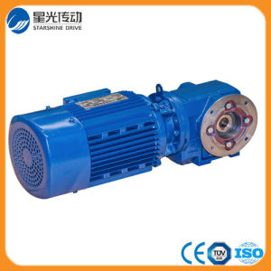 Foot Mounted Solid Shaft Helical Worm Gear Reducer pictures & photos