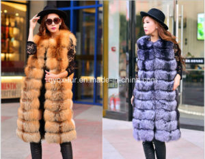 Long Style Real Fox Fur Vest on Sale pictures & photos