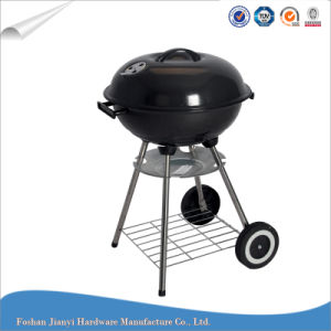 Outdoor Charcoal Grill Trolley Barbecue Grill with Ash Plate