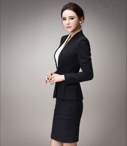 Made to Measure Fashion Stylish Office Lady Formal Suit Slim Fit Pencil Pants Pencil Skirt Suit L51618 pictures & photos