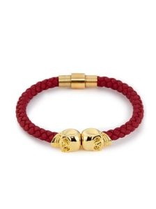 North Skull Leather Bracelet