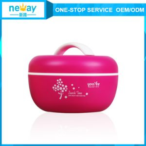 Hot Sale Apple Cute Pastice Double Layers Lunch Box for Kids pictures & photos