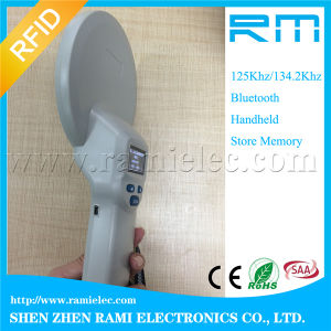 134.2kHz RFID Animal Handheld Reader for Cattle Ear Tag Bluetooth pictures & photos