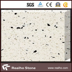 Cream Marble Type Artificial Quartz Stone for Floor pictures & photos
