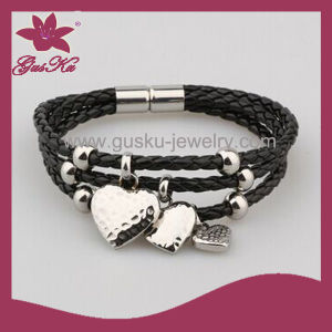 Leather Pendant Bracelet Jewelry (2015 Stlb-052) pictures & photos