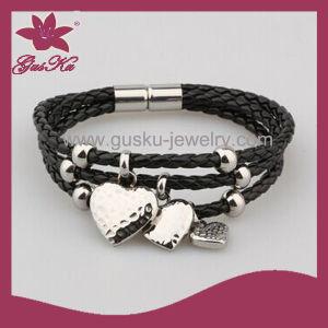 Leather Pendant Bracelet Jewelry (2015 Stlb-052)