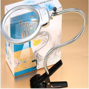 LED Light Handle Desk Clamp Magnifier Lamp Popular Gift (EGS-15123-B) pictures & photos
