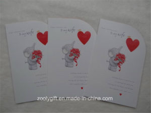 Heart Embossed Printing Die-Cut Holiday Greeting Card with Envelop pictures & photos