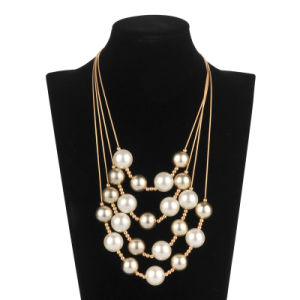 Five Rolls Pearl Chain Necklace (XJW13598) pictures & photos
