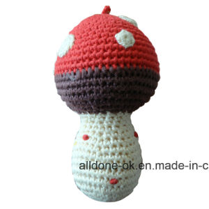 Eco Friendly Hand Crochet Cute Rattle Toy   Amigurumi Mushroom pictures & photos