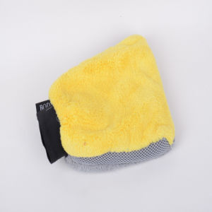 Golden Orange, Orange, Ultra-Fine Fiber Cleaning Sponge Gloves, Customize